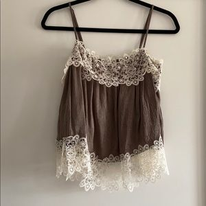 Zara camisole top with lace trim